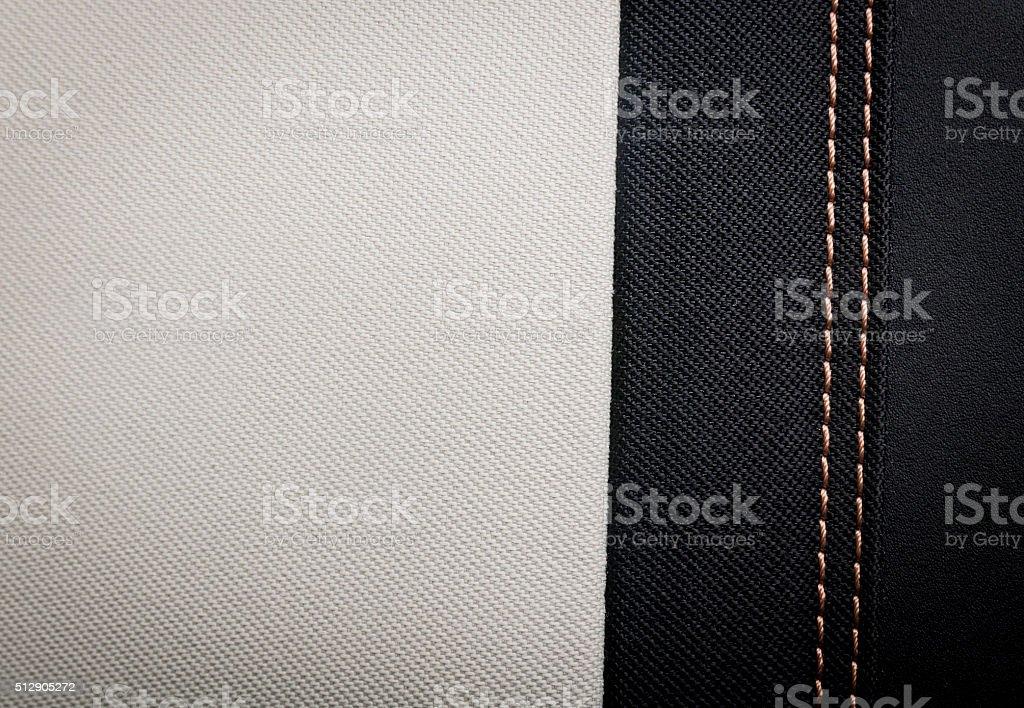 Black and white textile texture stock photo