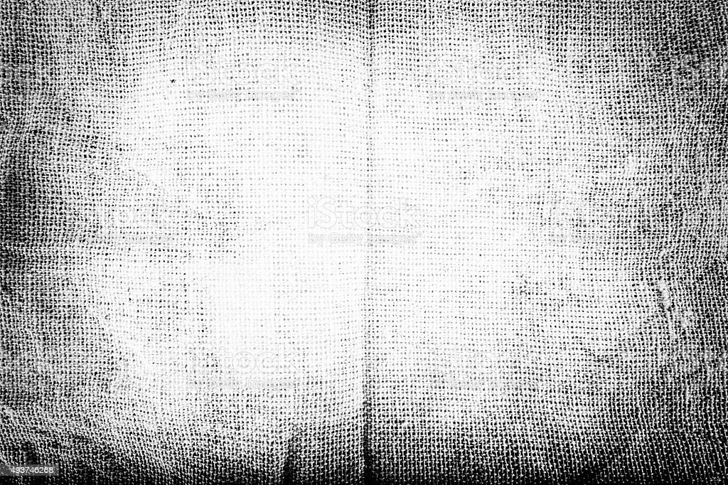 Black and white Texture of Sackcloth stock photo