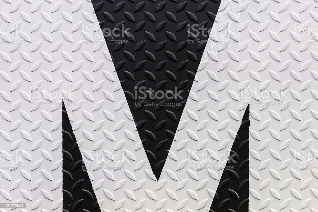 Tessuto bianco e nero con piastra di acciaio diamante foto stock royalty-free