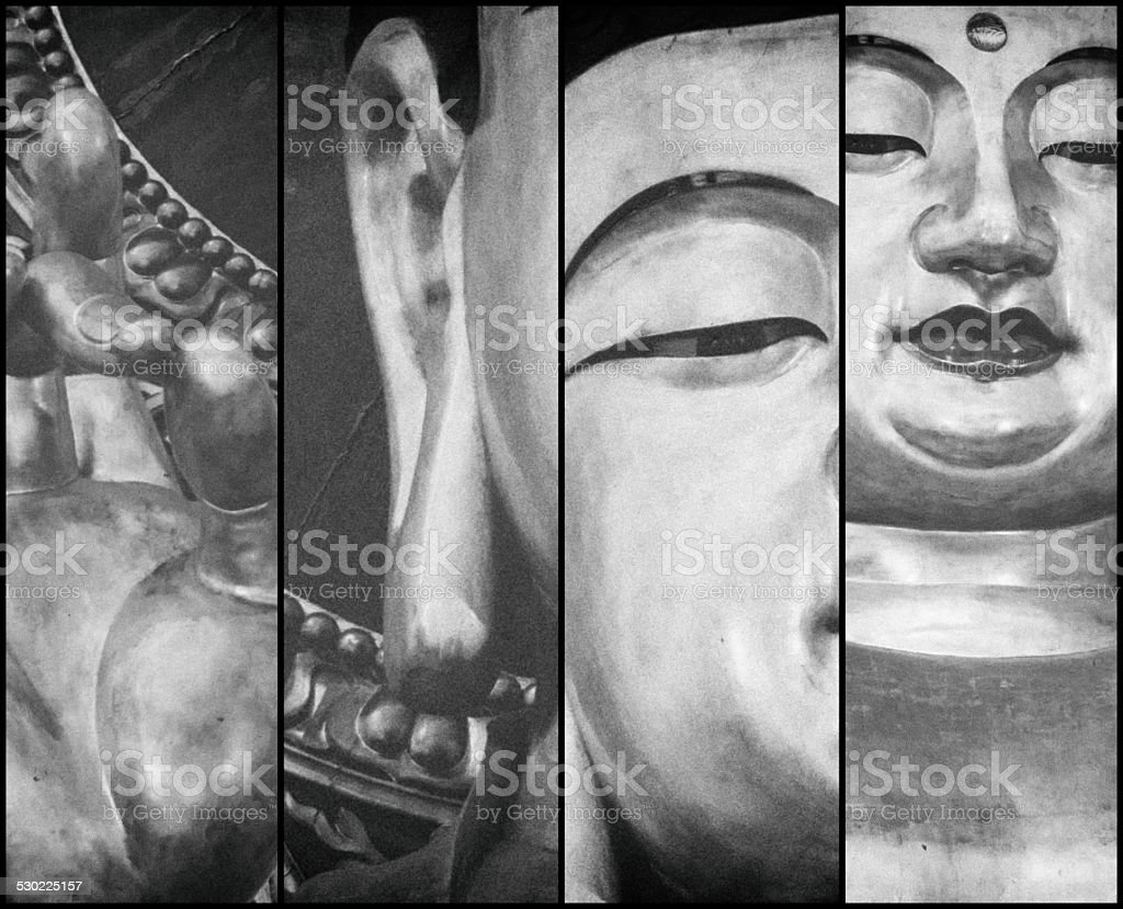 Black and White triptych stock photo