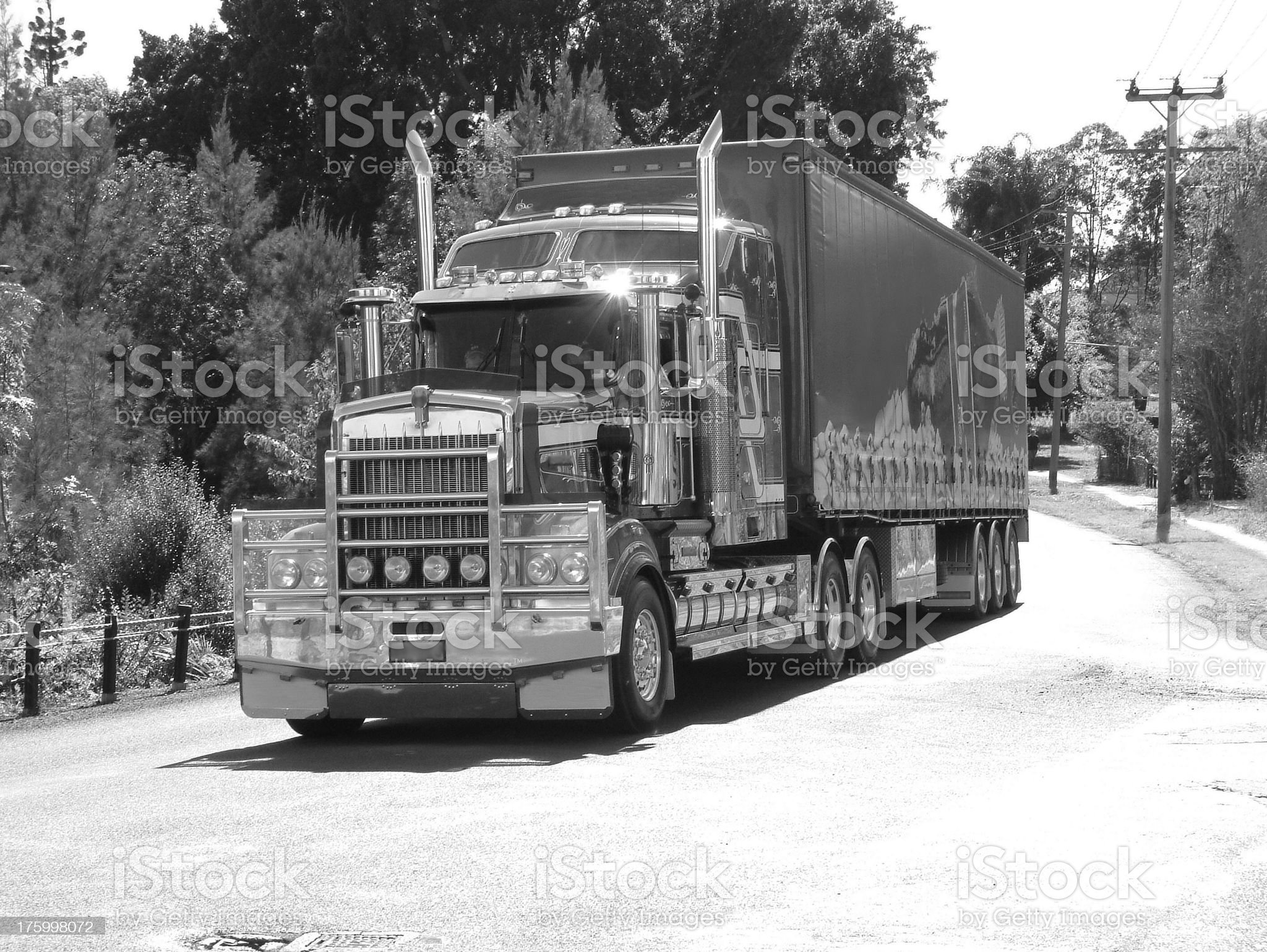 Black and White Truck 1 royalty-free stock photo