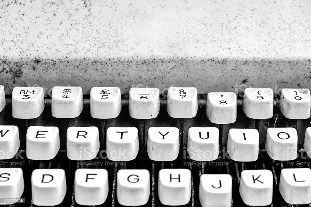 Black and White Typewriter 2 stock photo