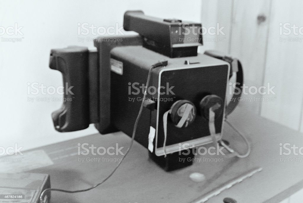 Black and White Vintage Camera stock photo