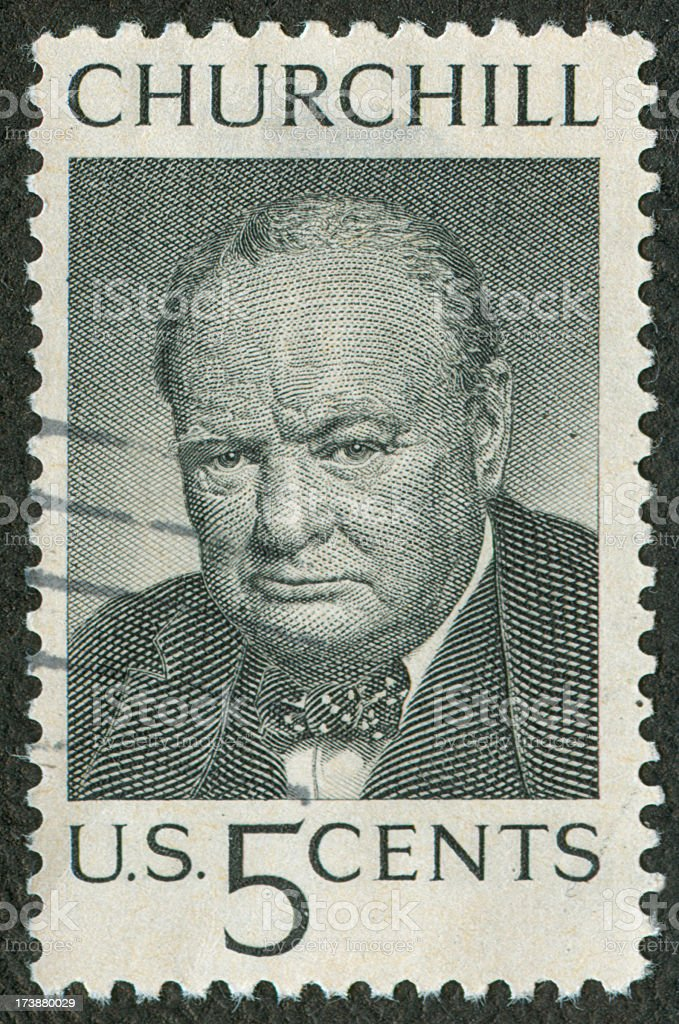 Black and white vintage postage stamp stock photo