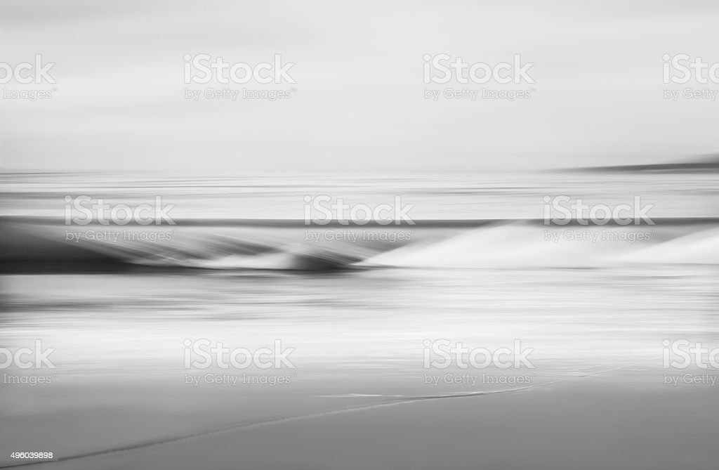 Black and White Wave stock photo