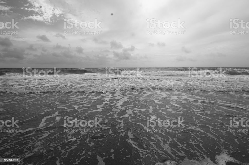Black and White Waves stock photo