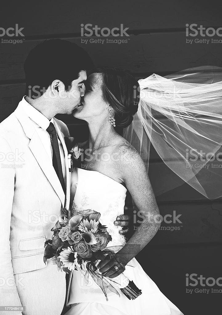 black and white Wedding royalty-free stock photo