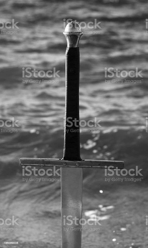 Black and White Wet Sword royalty-free stock photo