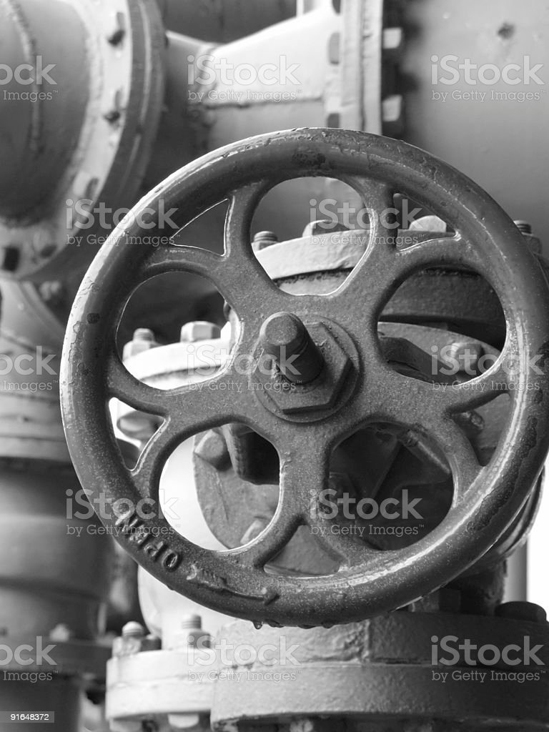 Black and white wheel royalty-free stock photo