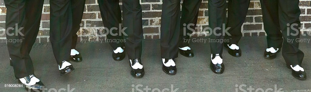 Black and White wing tips royalty-free stock photo