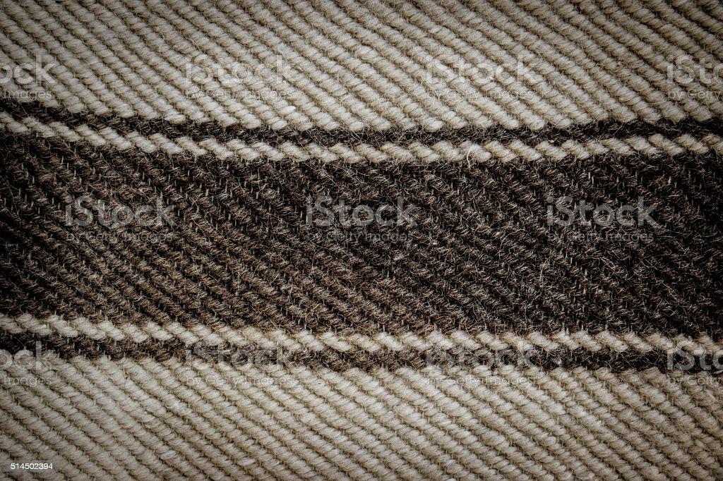 Black and white wool blanket closeup stock photo