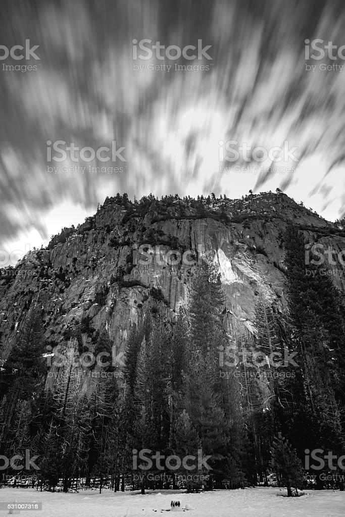 Black and White Yosemite stock photo