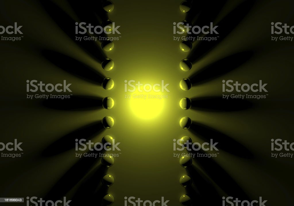 Black and yellow Sphere royalty-free stock photo