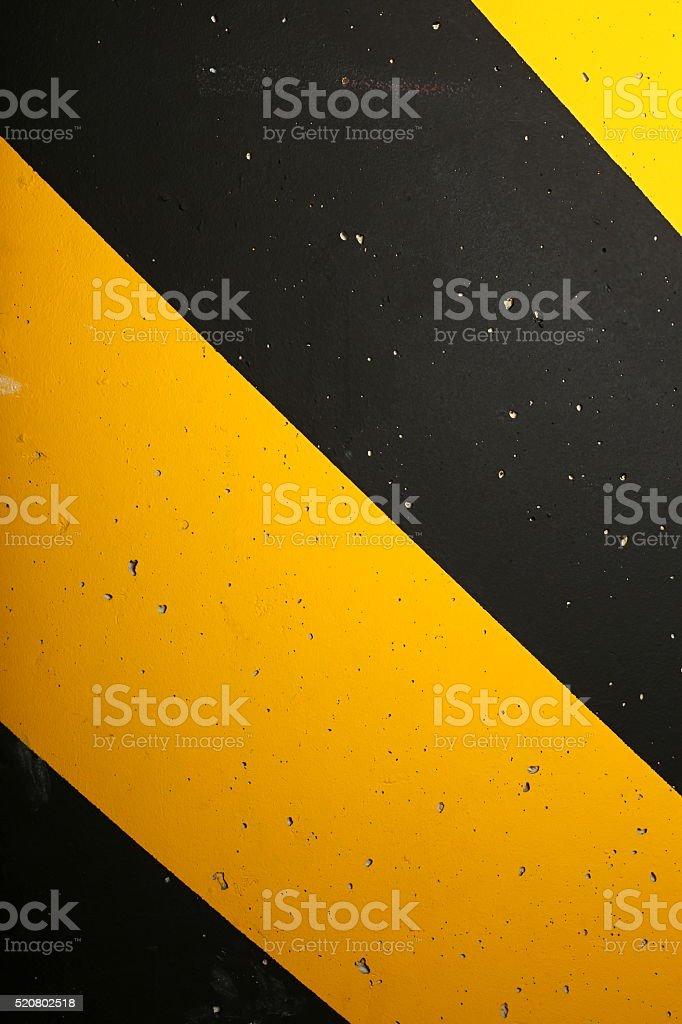 Black and yellow stripes stock photo