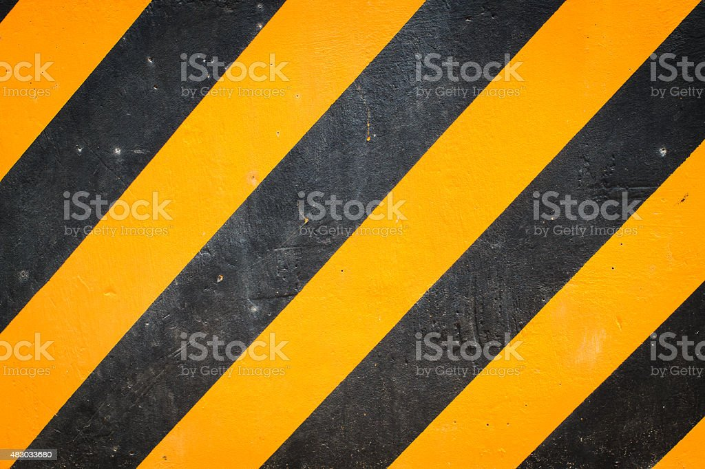 Black and yellow warning background vector art illustration