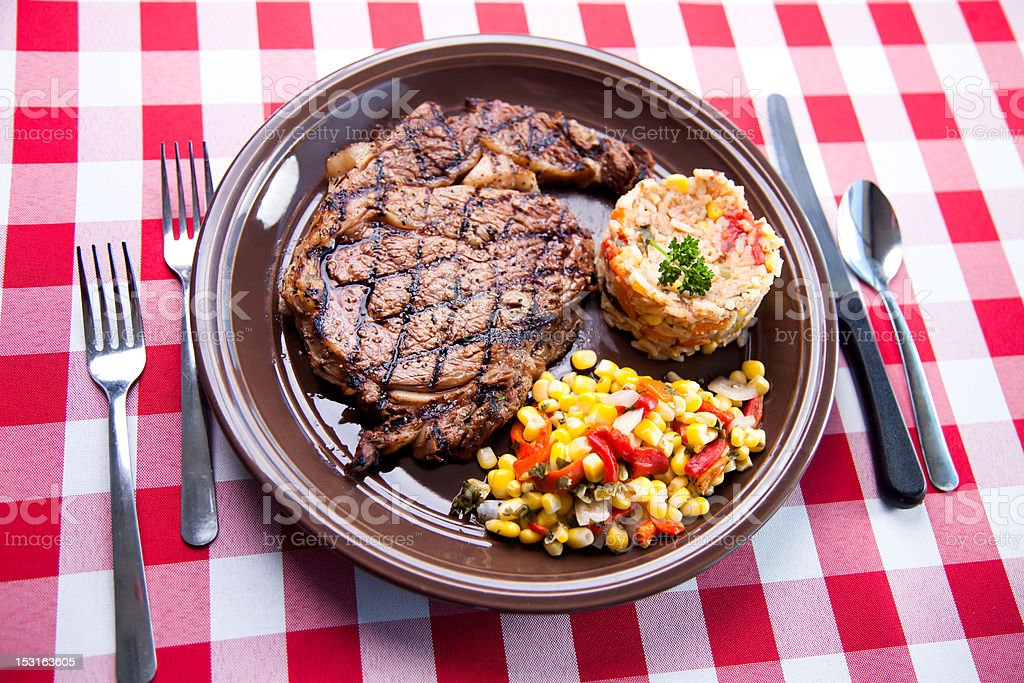 Black Angus Rib Eye stock photo