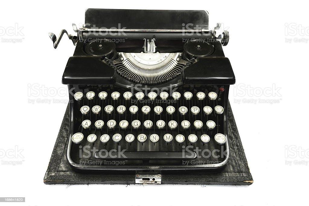 black antique typewriter royalty-free stock photo