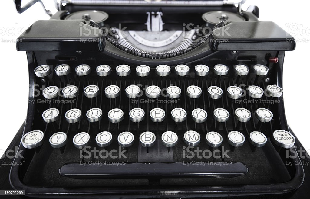 black antique typewriter royalty-free stock photo
