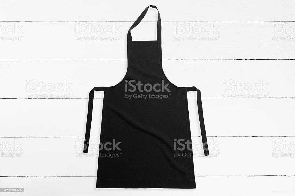 Black apron stock photo