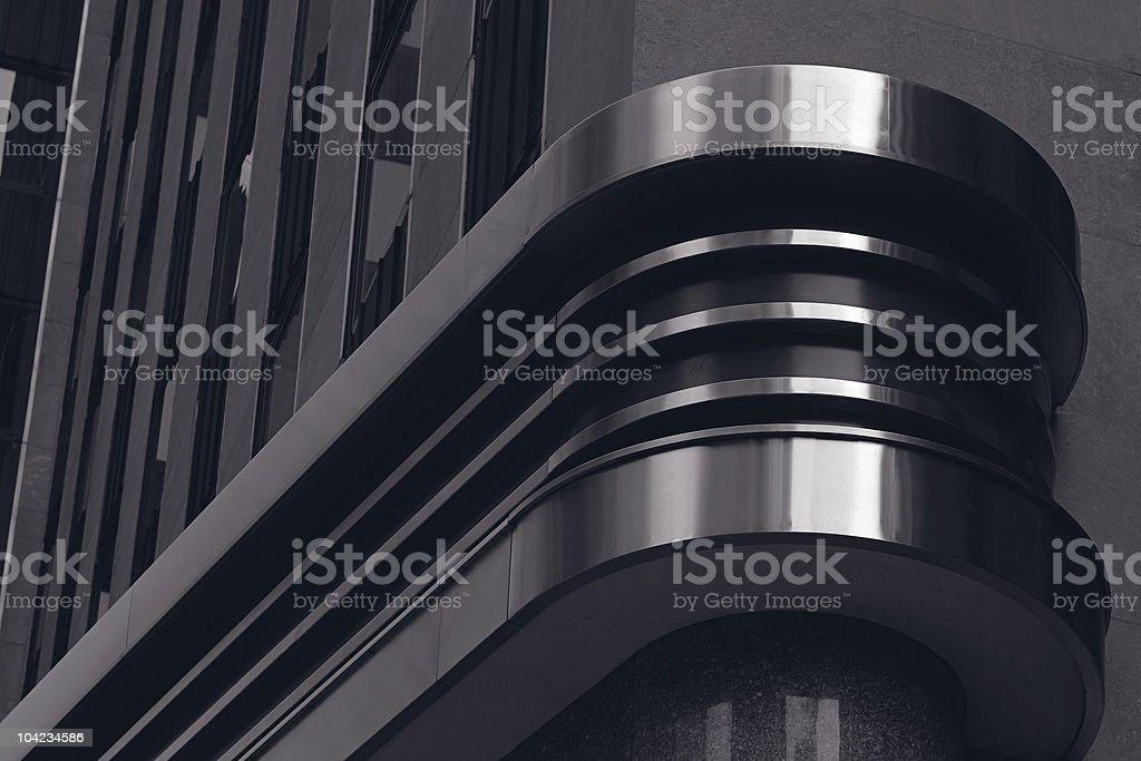 Black architectural design decoration stock photo