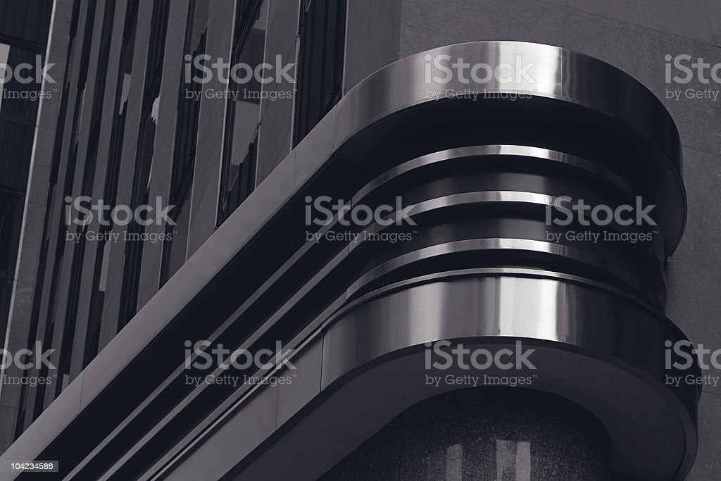 Black architectural design decoration stock photo