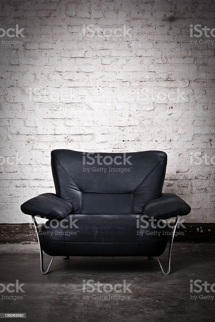 Black armchair royalty-free stock photo