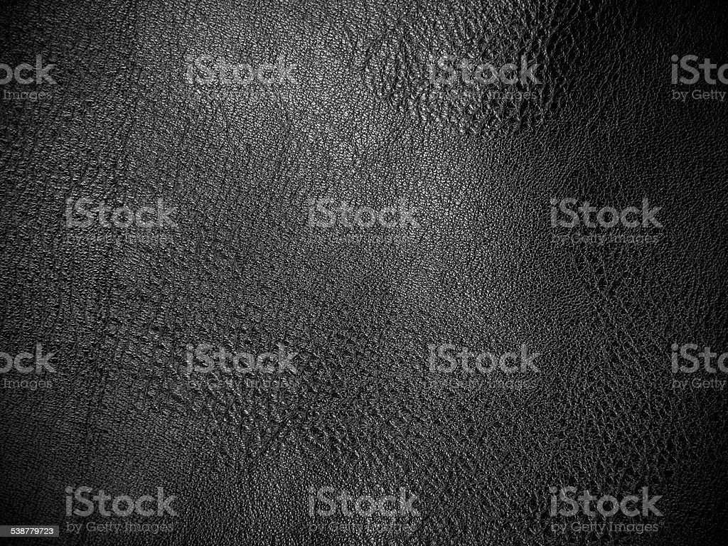 black artificial leather for background stock photo