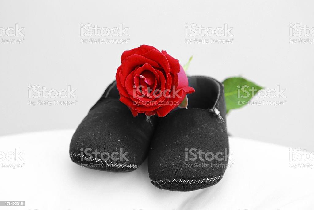 Black Baby Shoe royalty-free stock photo