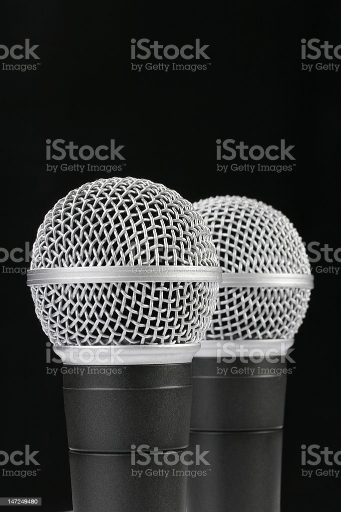 Black background Mics royalty-free stock photo