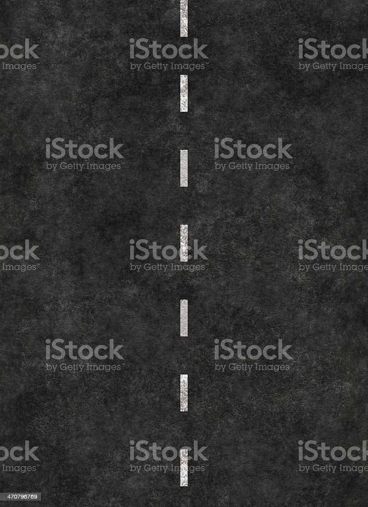 A black background with a white dotted line running through  stock photo