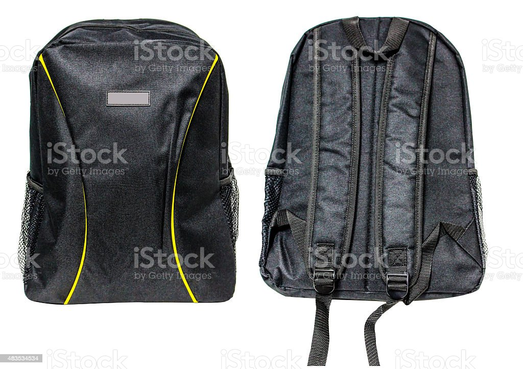 Black backpack royalty-free stock photo