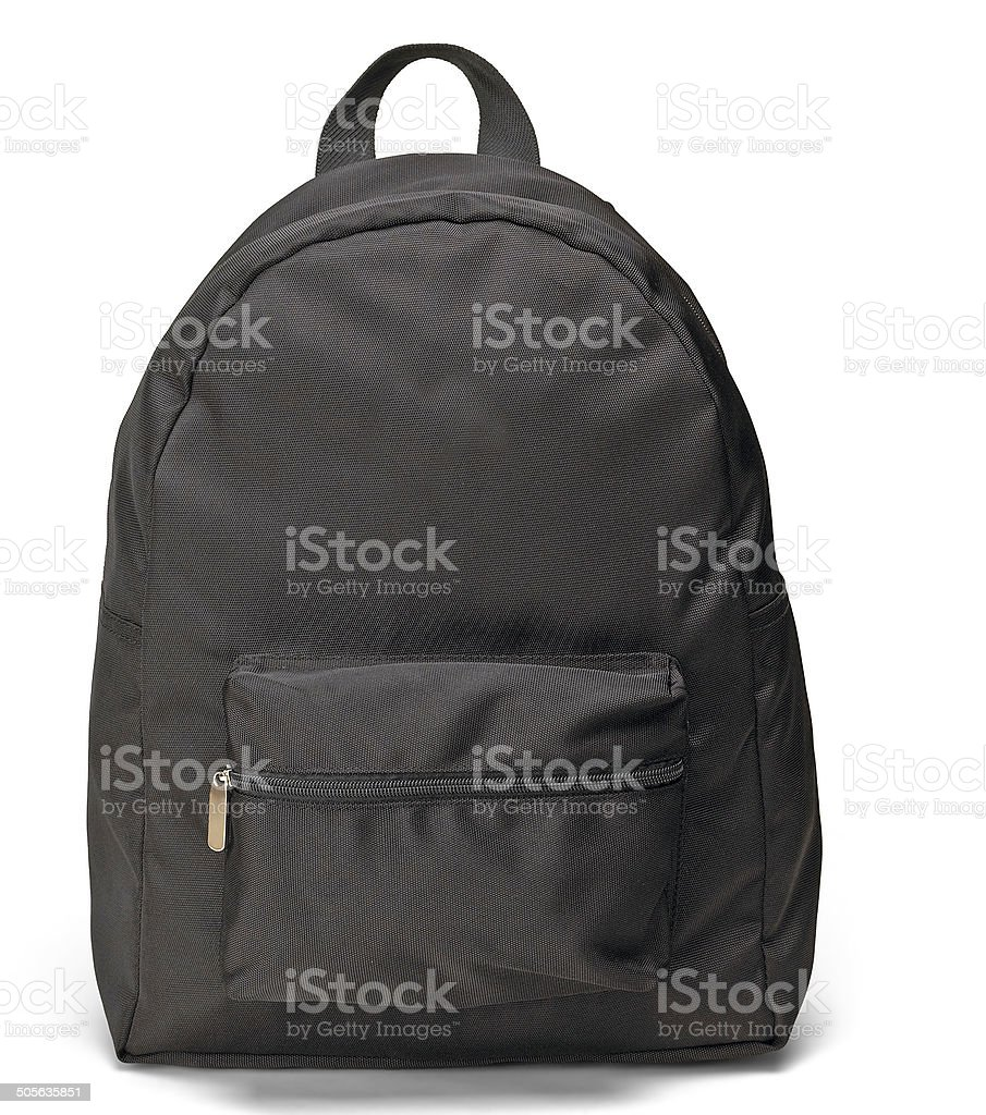 black backpack stock photo