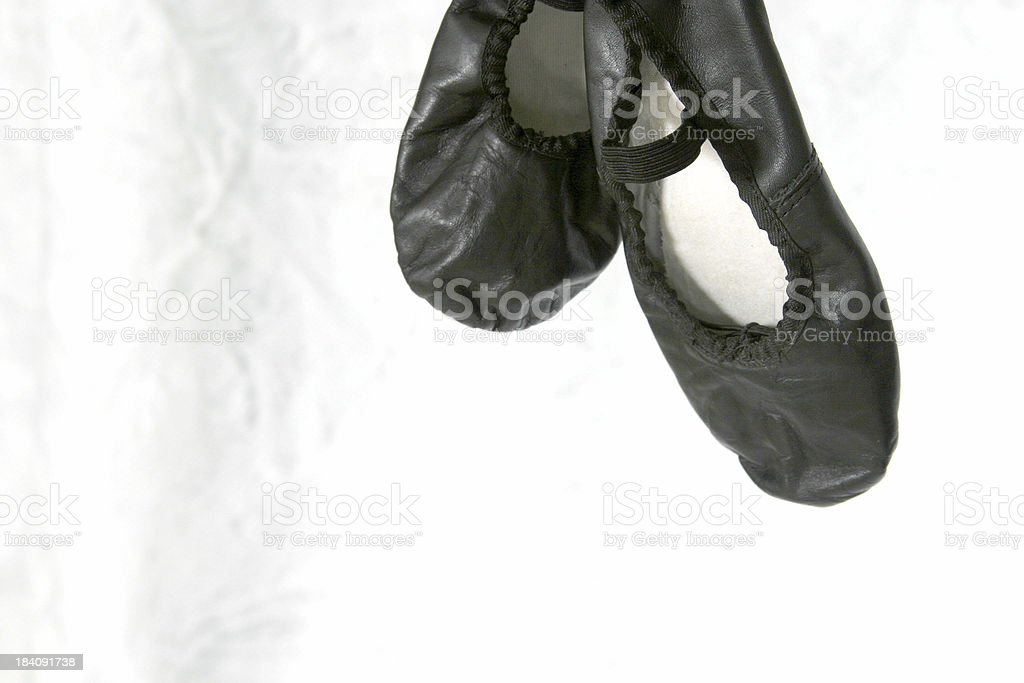 black ballet/jazz shoes royalty-free stock photo