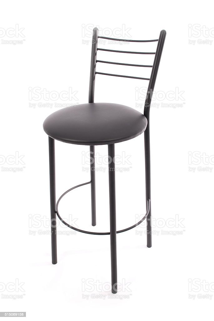 Black bar chair stock photo