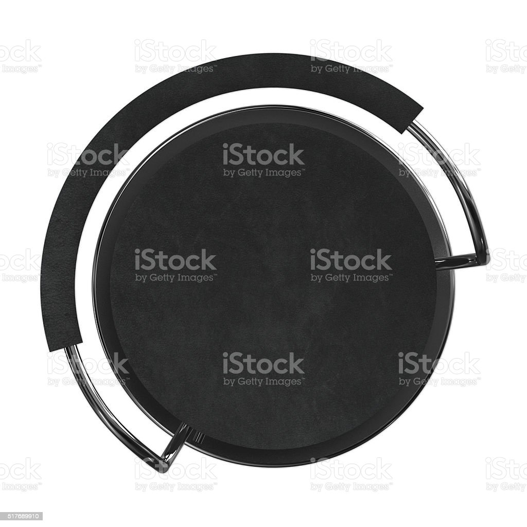 Black bar stool stock photo