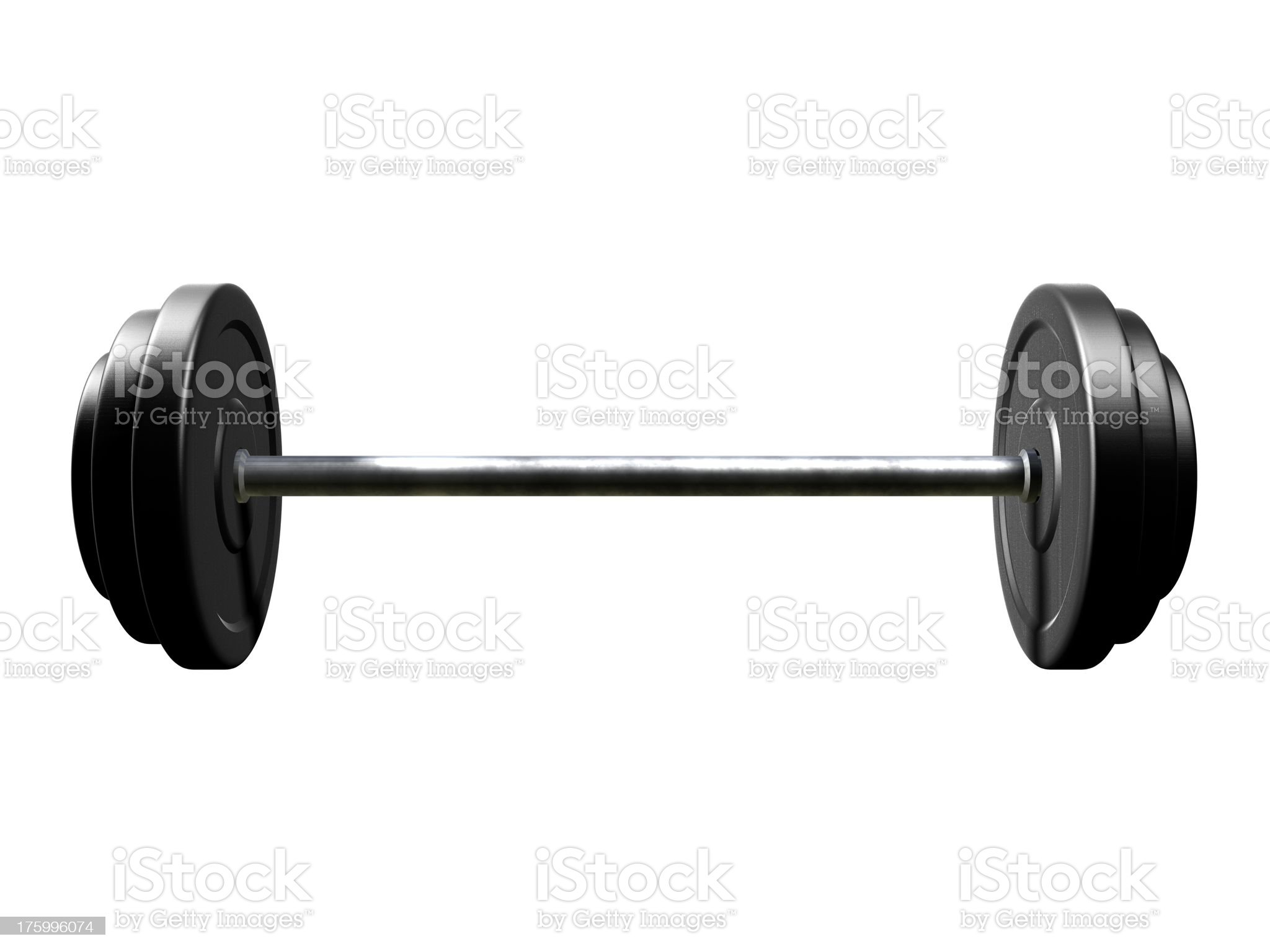 Black barbells more weight 2 royalty-free stock photo