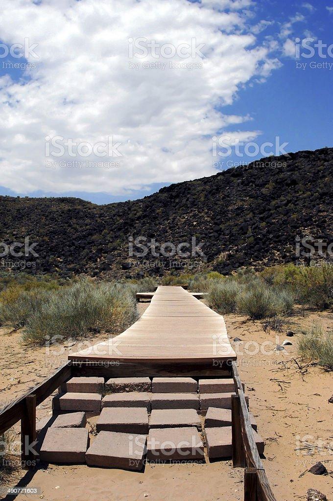 Black Basalt Hiking Trail stock photo
