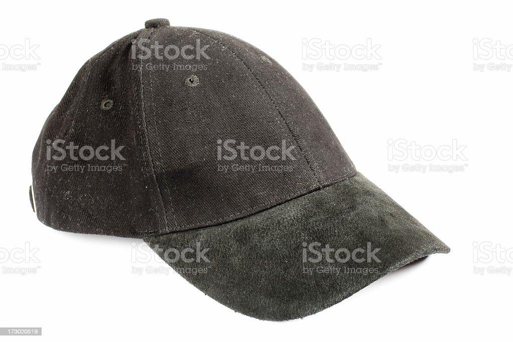 Black baseball cap royalty-free stock photo
