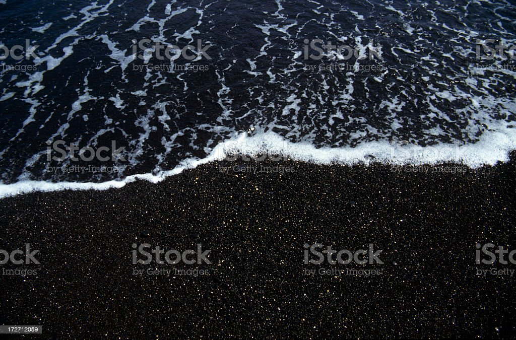 Black Beach at Maui Hawaii stock photo