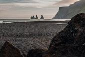 Black beach in Vik, southern Iceland