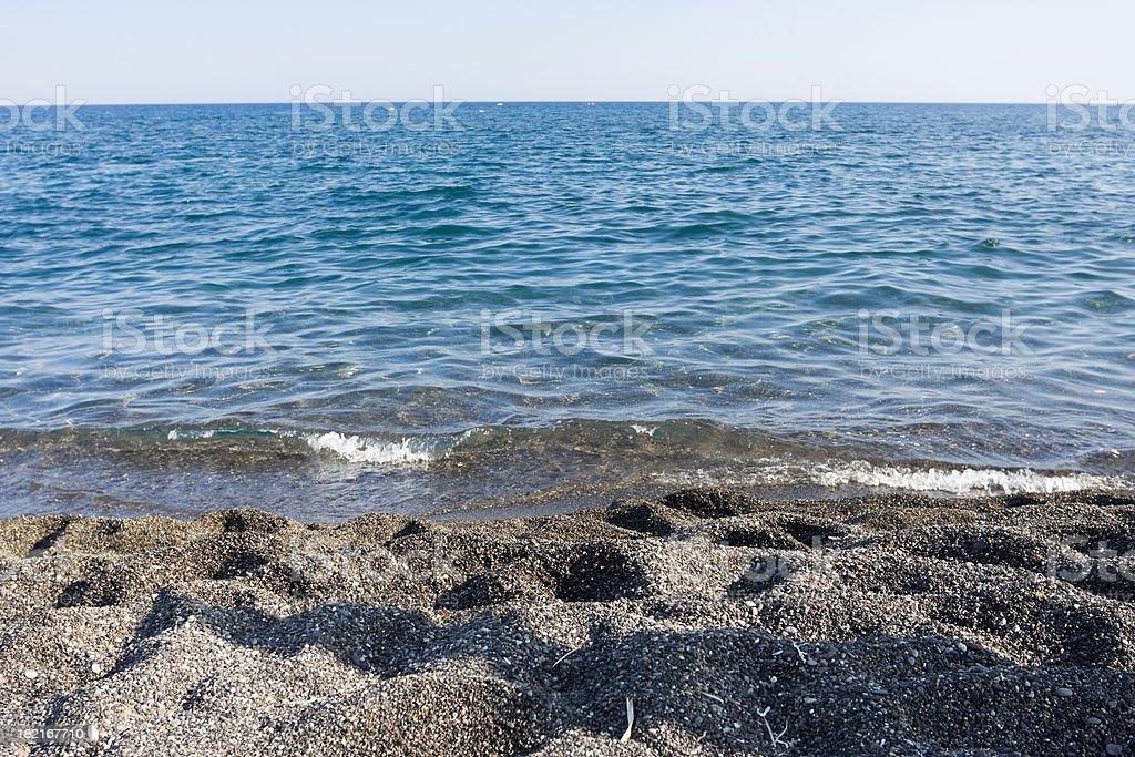 Black Beach royalty-free stock photo
