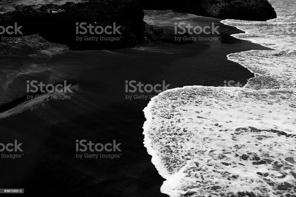 Black beach stock photo