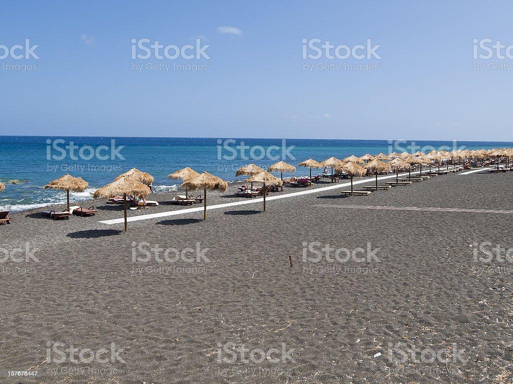 black beach,Santorini,Greece royalty-free stock photo