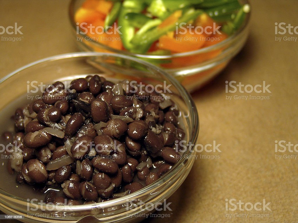 black beans peppers royalty-free stock photo