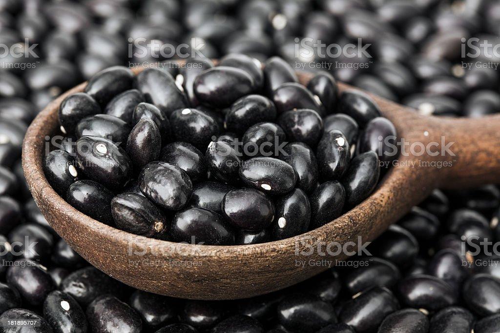 Black beans royalty-free stock photo