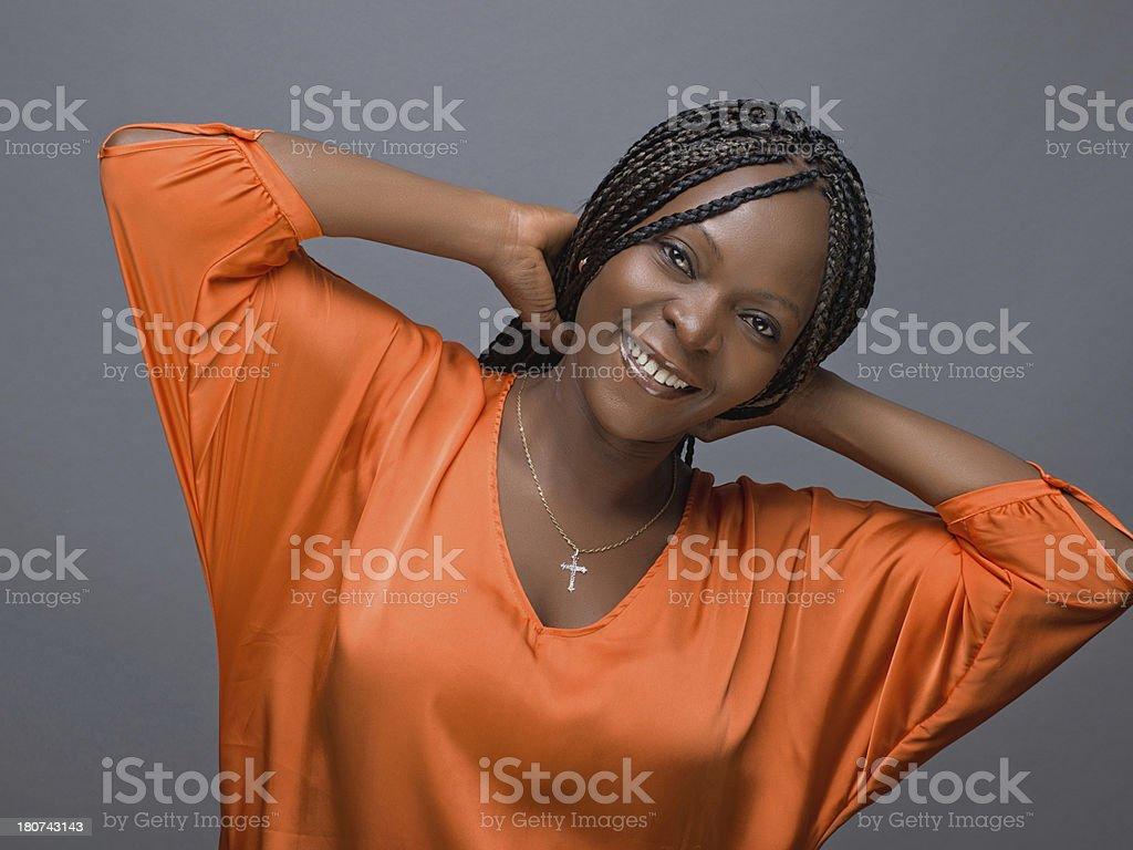 Black beautiful woman royalty-free stock photo