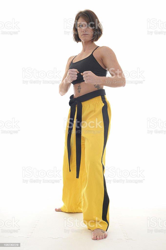 Black belt fitness royalty-free stock photo