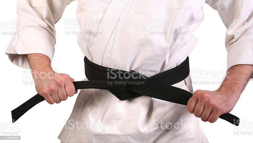 Black Belt royalty-free stock photo
