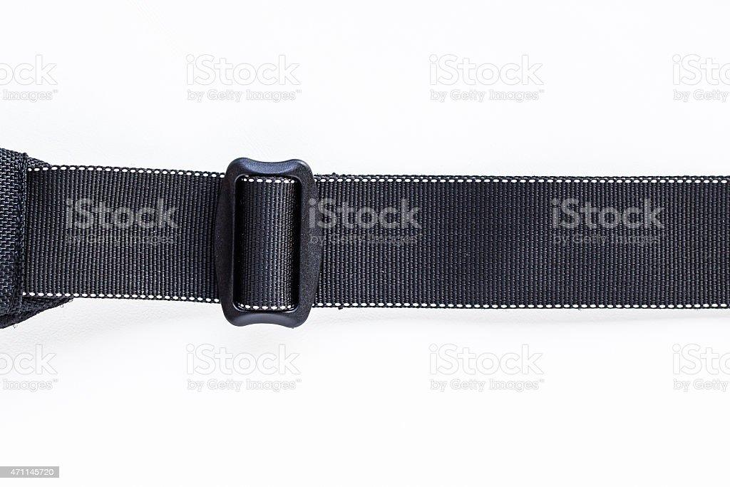 Black belt rope strap lanyard stock photo