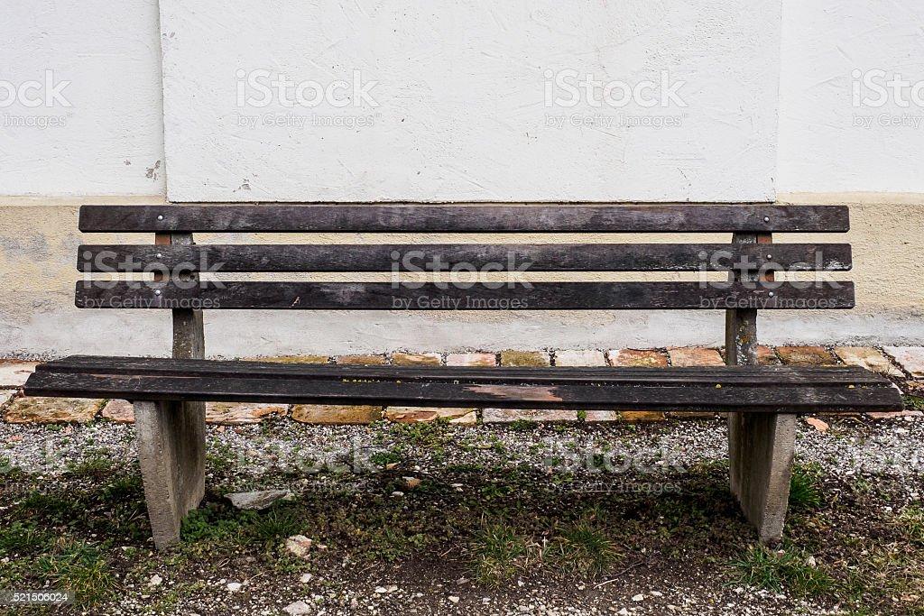 Black bench stock photo